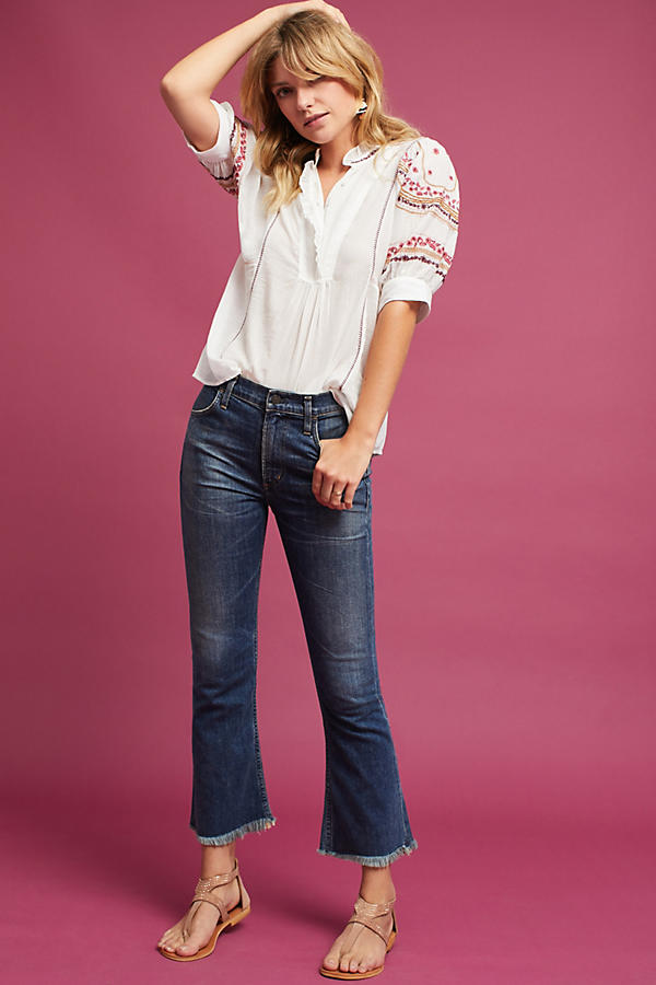 Slide View: 3: Gwyneth Embroidered Blouse, Ivory