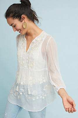 Slide View: 1: Calliope Peasant Top