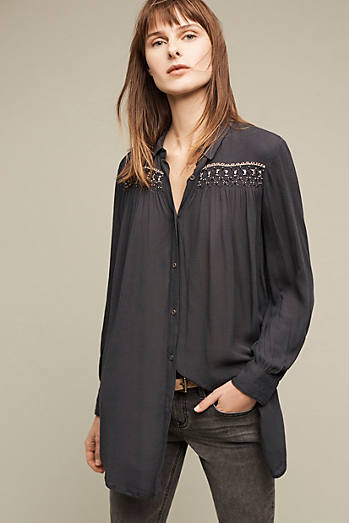 Melina Tunic Shirt, Black
