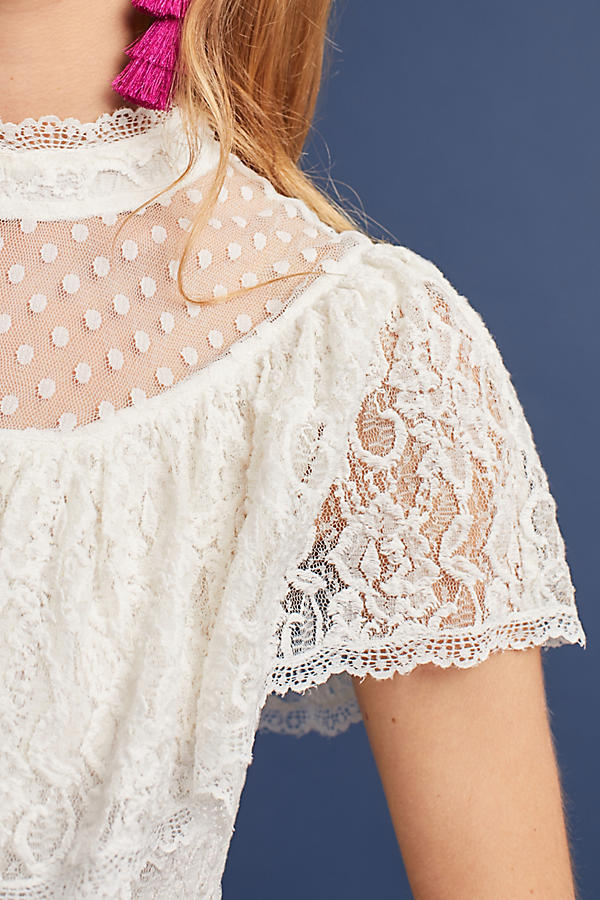 Slide View: 2: Maddalyn Lace Blouse