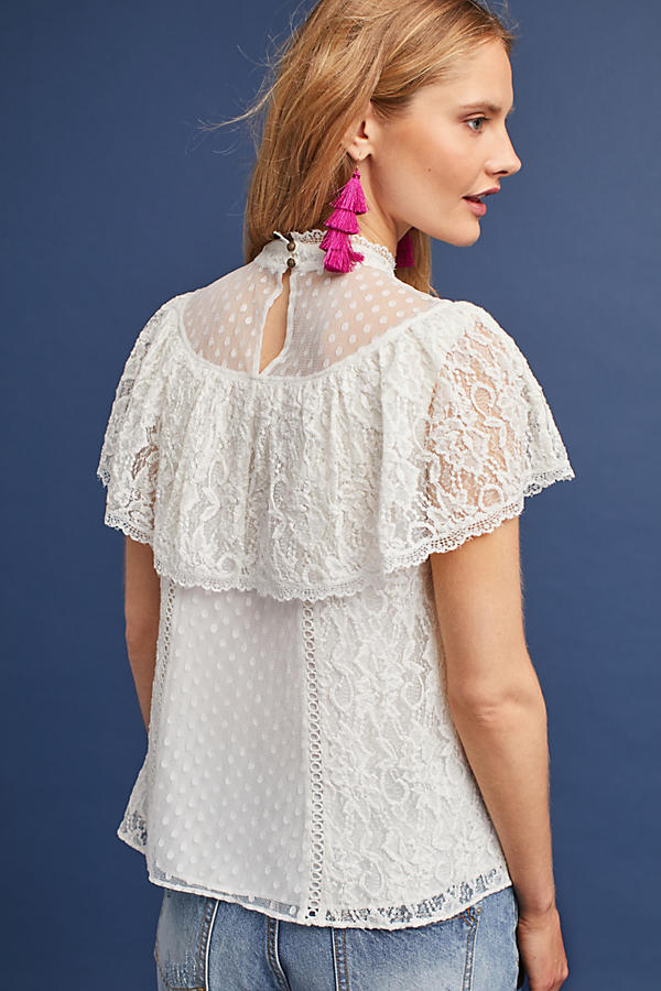 Slide View: 3: Maddalyn Lace Blouse
