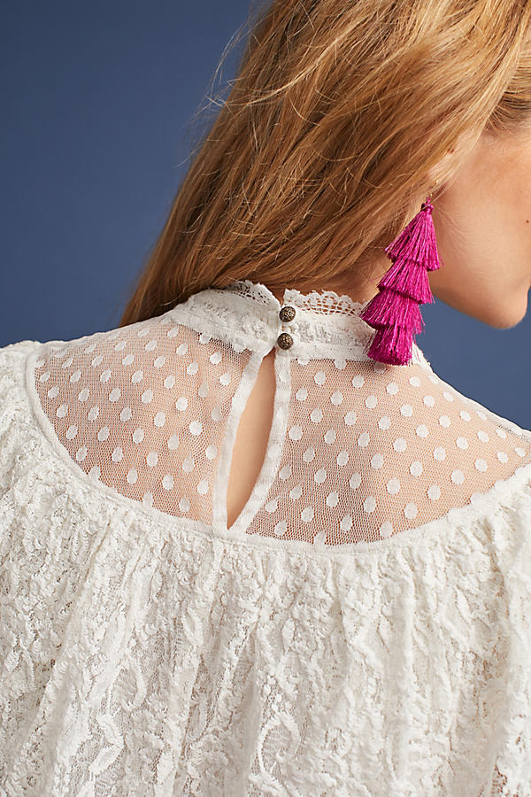 Slide View: 4: Maddalyn Lace Blouse