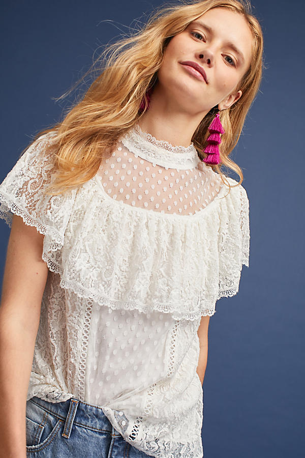 Slide View: 1: Maddalyn Lace Blouse