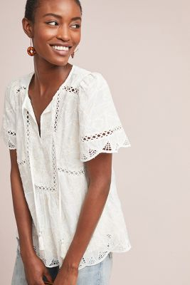 Adler Embroidered Blouse by Feather Bone