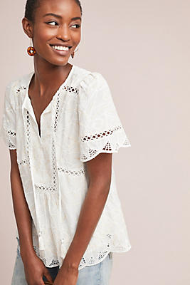 Slide View: 1: Adler Embroidered Blouse
