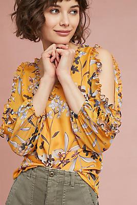 Slide View: 1: Shoshanna Silk Floral Blouse
