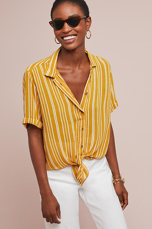 Faithfull Roy Striped Blouse - Assorted, Size L