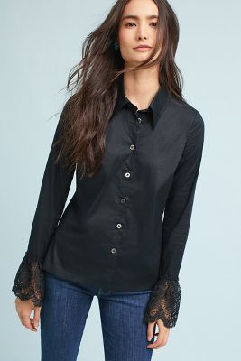 Laced Cuff Blouse by Plenty By Tracy Reese