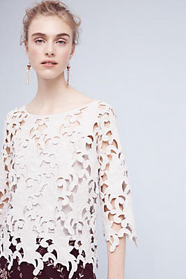 Slide View: 1: Guipure Lace Top