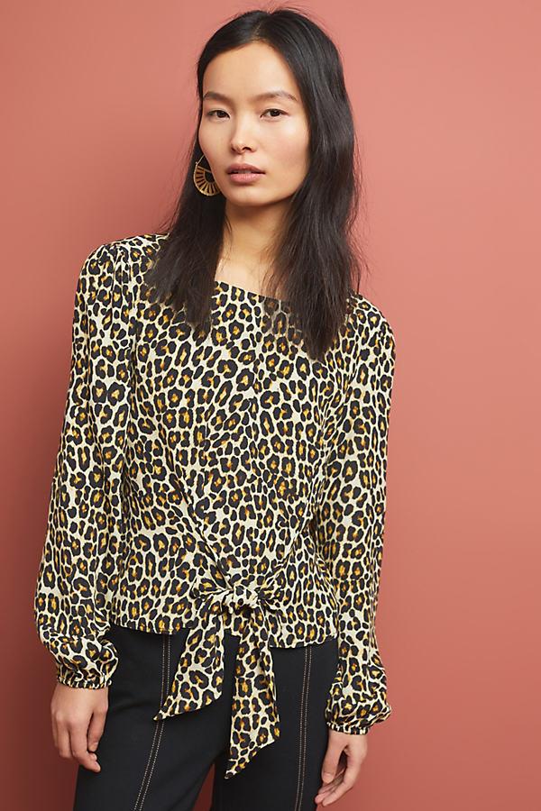 Kachel Rosalie Leopard-Print Blouse - Assorted, Size Uk 16