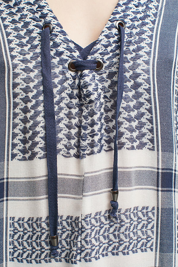 Slide View: 2: Indiana Printed Blouse, Blue