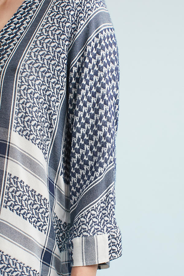 Slide View: 3: Indiana Printed Blouse, Blue