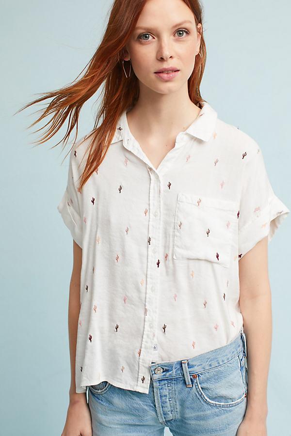 Rails Cactus Shirt, White - Neutral Motif, Size L