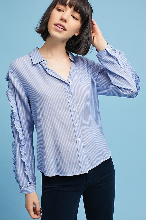Slide View: 4: Rails Ruffled Buttondown