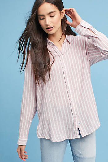 Rails Metallic Striped Shirt