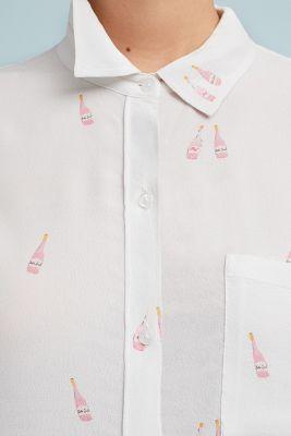 Rails   Rails Bottle-Printed Buttondown  -    WHITE