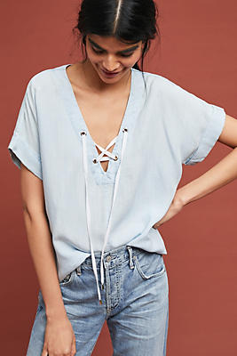 Slide View: 1: Rails Lace-Up Top