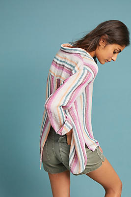Slide View: 1: Rails Avila Textured Stripe Buttondown