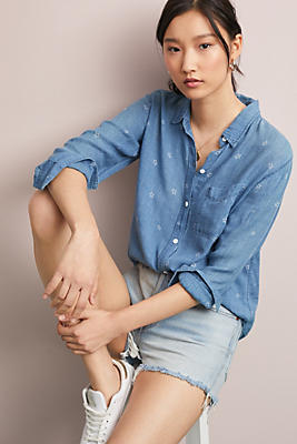 Slide View: 1: Rails Ingrid Chambray Buttondown