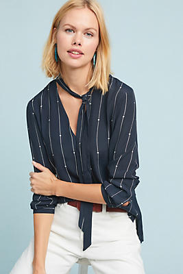 Slide View: 1: Rails Rhea Striped Stars Blouse