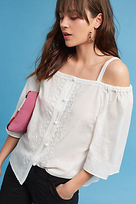 Slide View: 1: Anastasia Embroidered Blouse