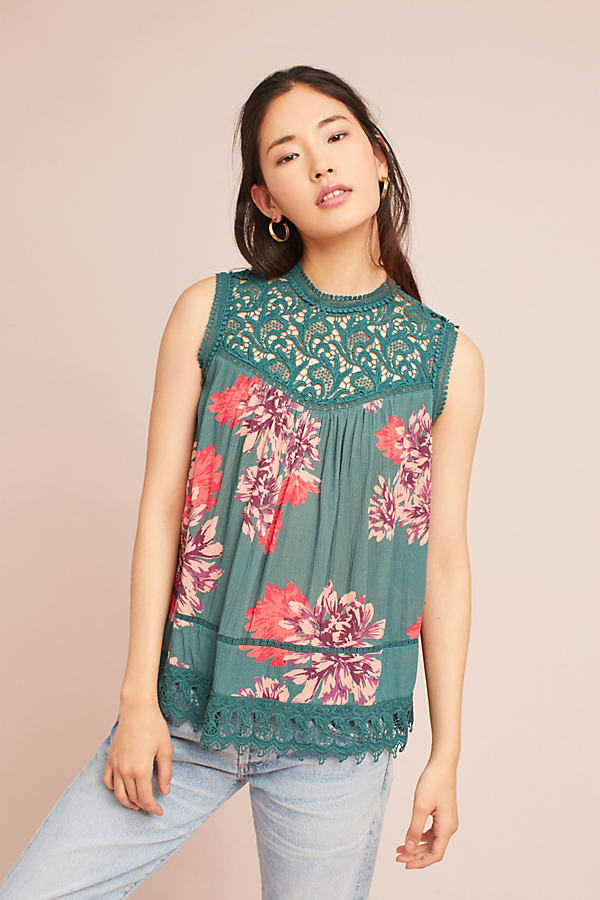 Mallory Lace Top - Holly, Size M