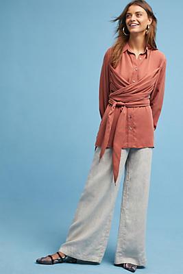 Slide View: 1: Mara Hoffman Aubryn Wrap Shirt
