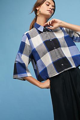 Slide View: 1: Mara Hoffman Checkered Shirt