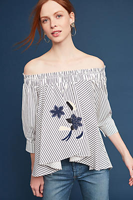Slide View: 1: Calina Off-The-Shoulder Top