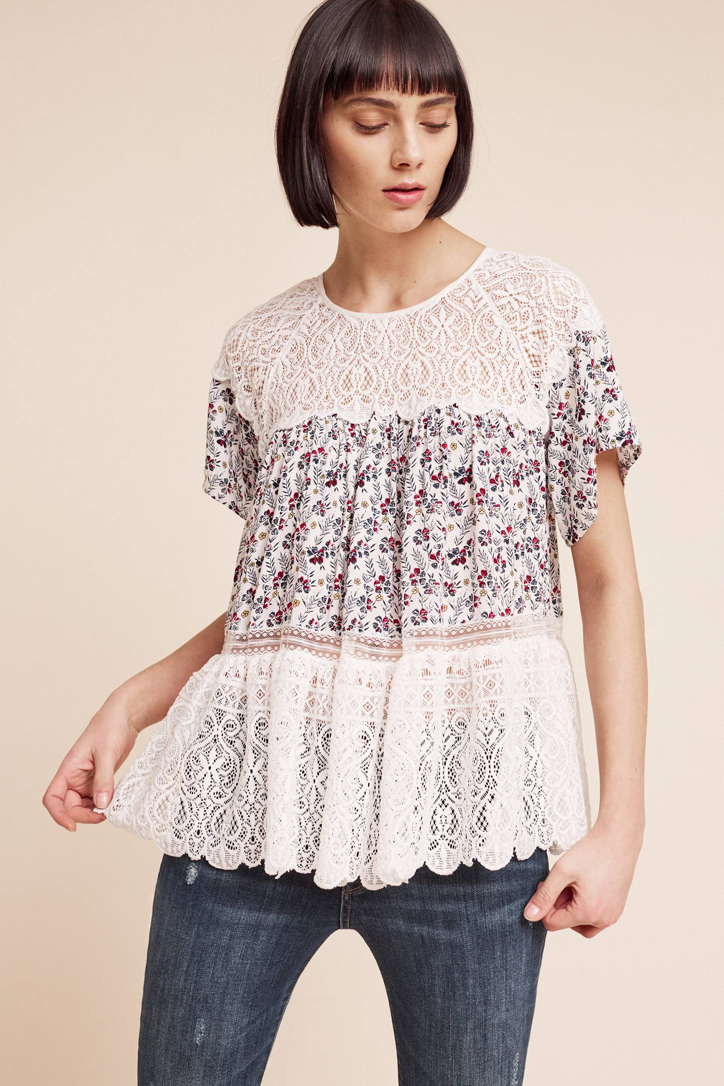 Slide View: 2: Sara Lace Blouse