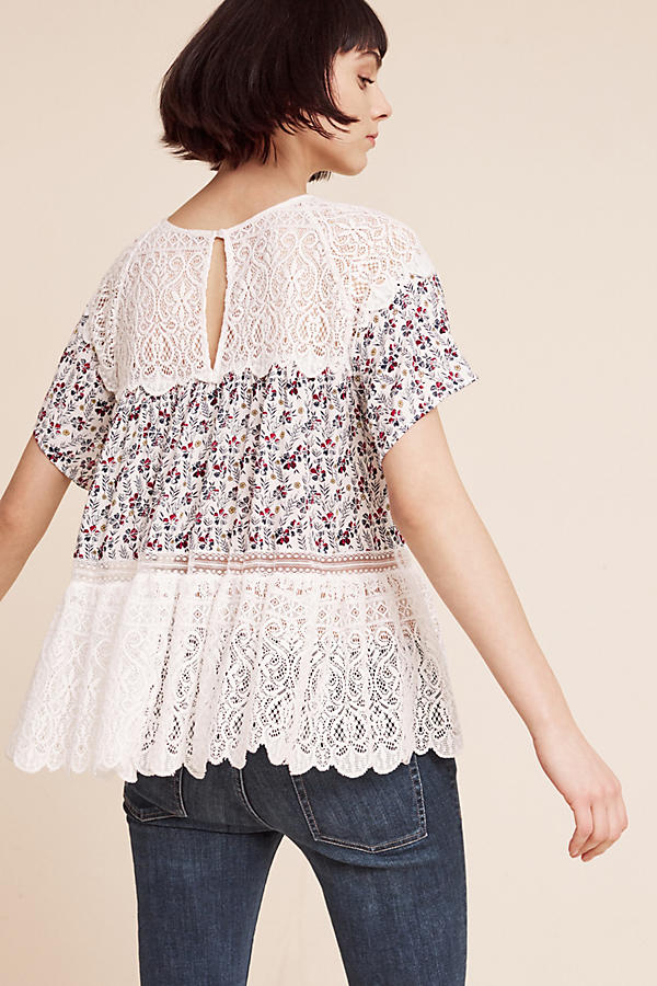 Slide View: 3: Sara Lace Blouse