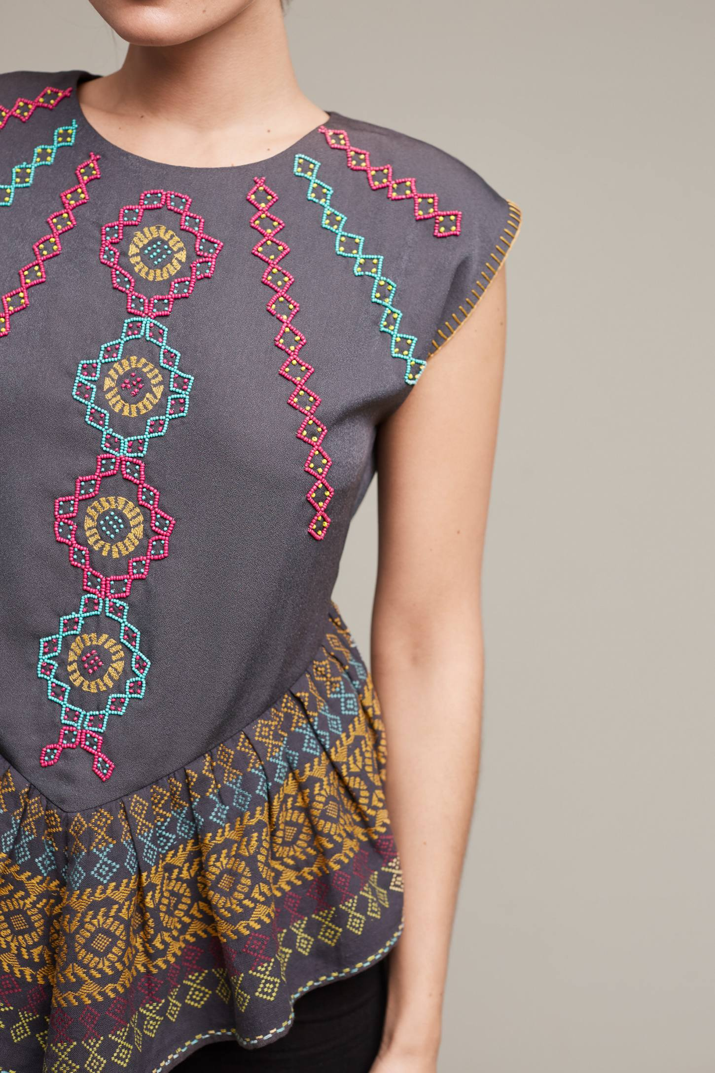 Slide View: 2: Neysa Embroidered Top