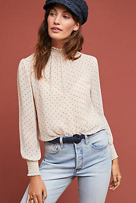 Slide View: 1: Gloria Polka Dot Blouse