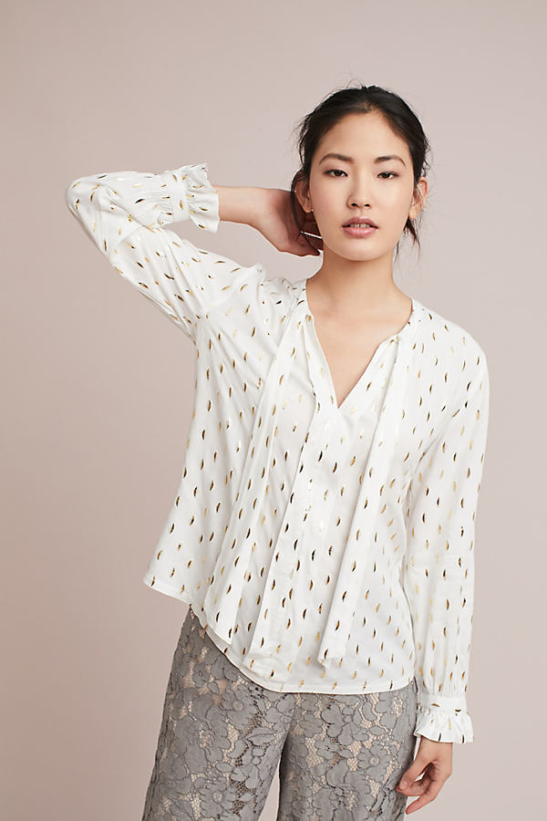 Gallerist Blouse - White, Size S