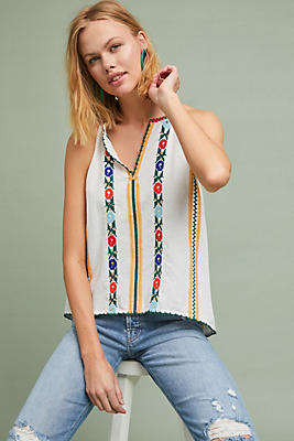 Slide View: 1: Jillian Embroidered Top