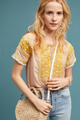 Lauren Embroidered Top by Love Sam