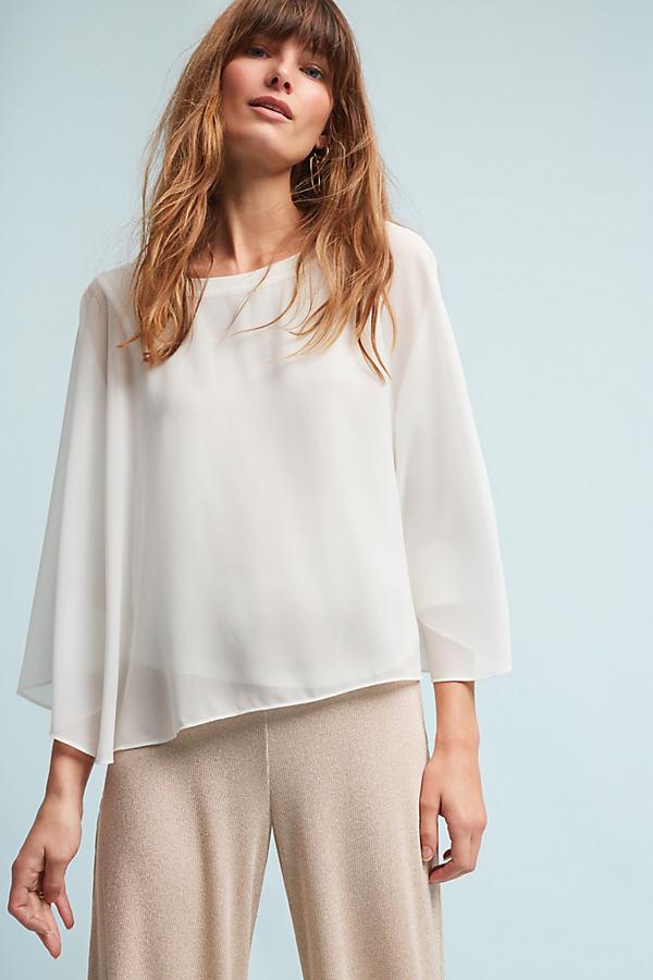 Avril Blouse - White, Size Xl