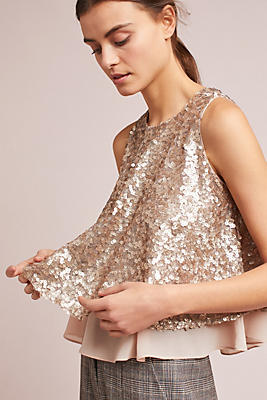 Slide View: 1: Sequined Shell
