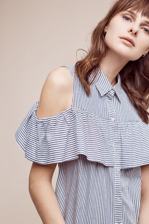 Sunday In Brooklyn Scilla Open-Shoulder Top