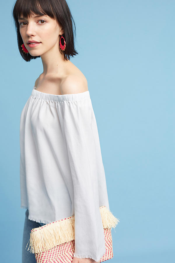 Slide View: 1: Cloth & Stone Sundays Off-The-Shoulder Top