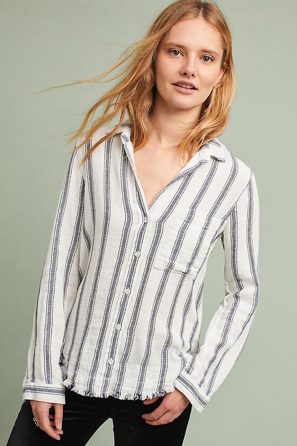 Daryl Textured Buttondown Shirt - Blue Motif, Size M