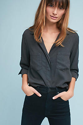 Slide View: 1: Cloth & Stone Split-Back Buttondown