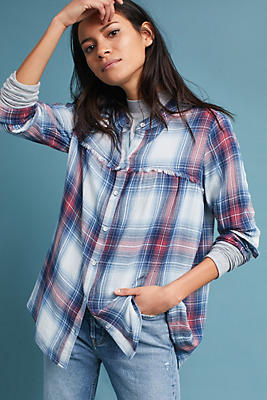 Slide View: 1: Cloth & Stone Plaid Swing Tunic
