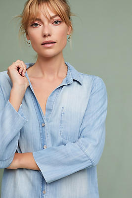 Slide View: 1: Cloth & Stone Faded Chambray Buttondown