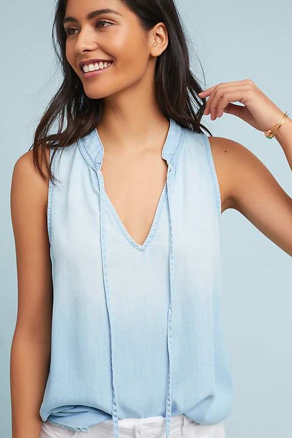 Cloth Stone Chambray Tank