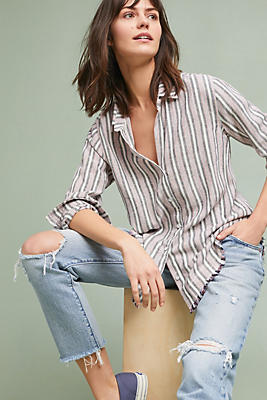 Slide View: 1: Cloth & Stone Americana Striped Buttondown