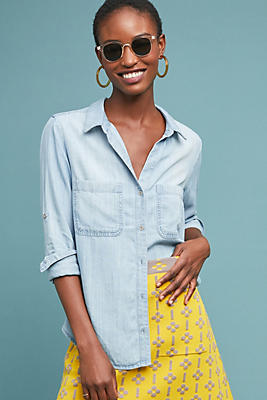 Slide View: 1: Cloth & Stone Classic Chambray Buttondown