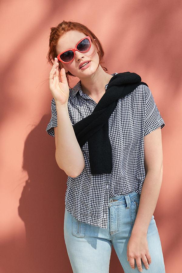 Cloth & Stone Gingham Shirt - Black, Size M
