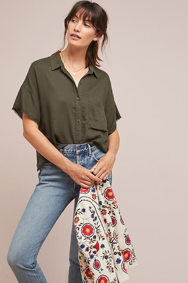 Cloth & Stone Mia Shirt - Beige, Size Xs