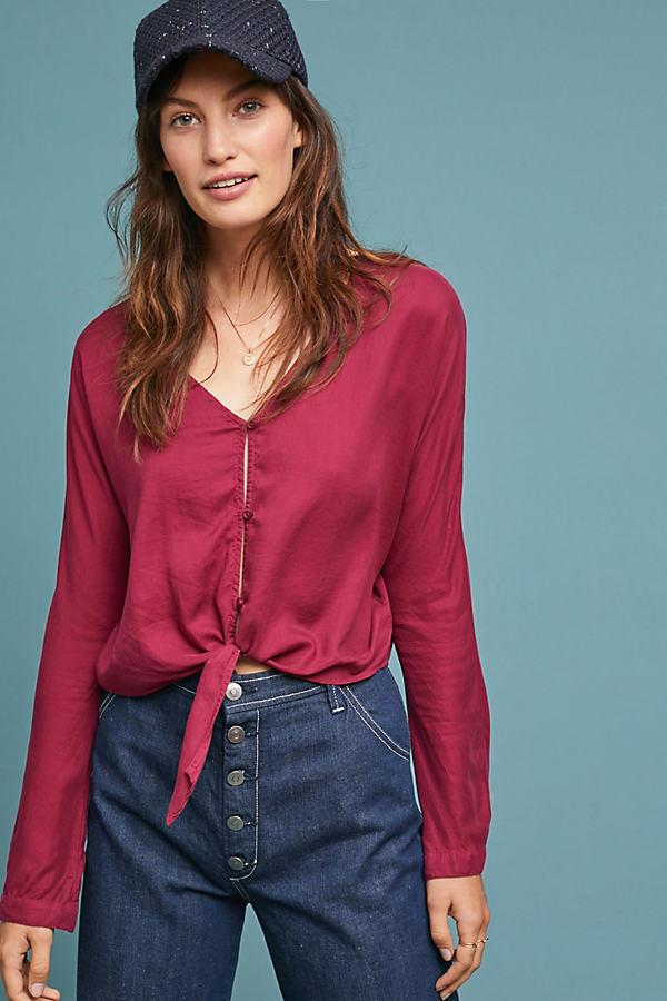 Cloth & Stone Harper Top - Purple, Size Xl